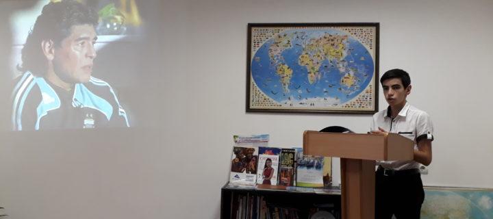 Для учащихся 1 курса Международного колледжа «Полиглот» был проведен кураторский час, приуроченный к проведению Чемпионата Мира по футболу 2018.